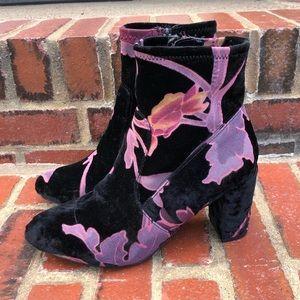 Steve Madden Boots Floral Velvet
